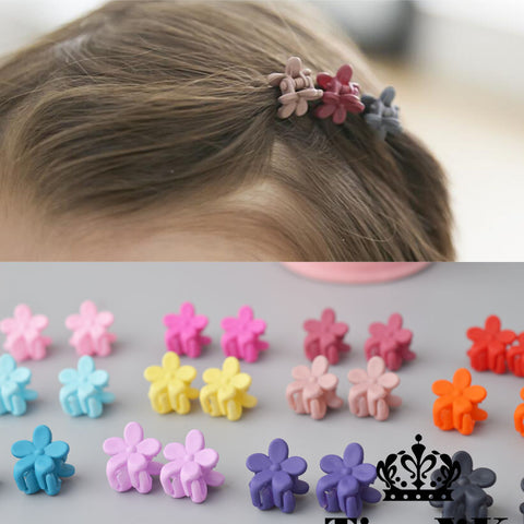 10 pcs New Fashion Baby Girls Small Hair Claw Cute Candy Color flower Hair Jaw Clip Children