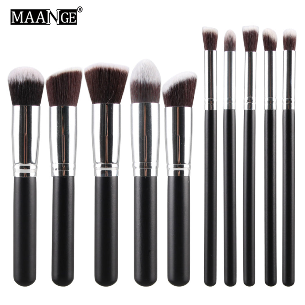 10Pcs Set High Quality Maquiagem Foundation Power Eye shadow Blending Contour Highlight Cosmetic
