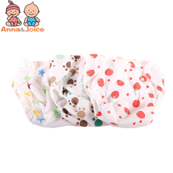 10pcs/free Shipping New   Baby Diaper Washable Learning Pants  Cotton Training Pant eTRX0020