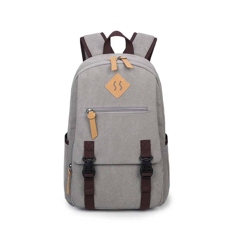 cc28a6f3838 15.6 Inch Laptop Backpack Men Vintage Bookbags College Student Bookbag  School Bag for Teens for Boys