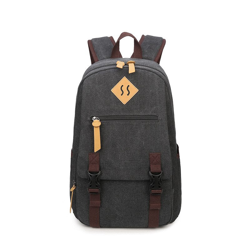 e89cdc1635a 15.6 Inch Laptop Backpack Men Vintage Bookbags College Student ...