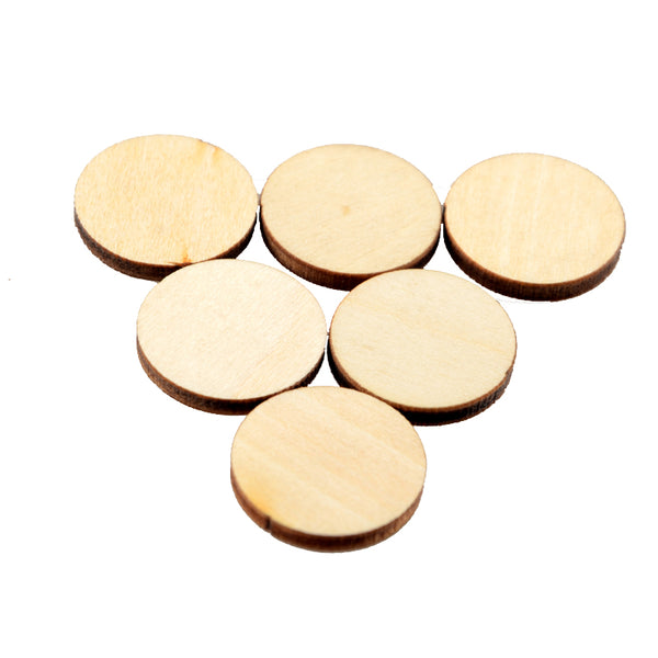 150pcs/lot 2cm diameter Natural unfinished large circle wood disk cutouts round wooden disc wedding crafts save date W12494544