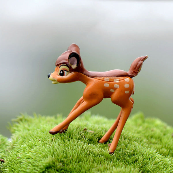 1PC Hot Cute Mini Deer Figurines Giraffe Statues Fairy Lawn Ornaments Moss Miniatures Glass Plotting Decor