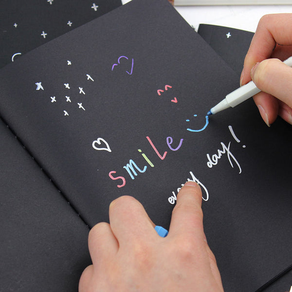 1PC Notebook Diary Black Paper Notepad 16K 32K 56K Sketch Graffiti Notebook for Drawing Painting Office School Stationery Gifts