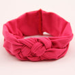1PC Soft Girl Kids Hairband Turban Knitted BowKnot Cross Headband Headwear Hair Band Accessories