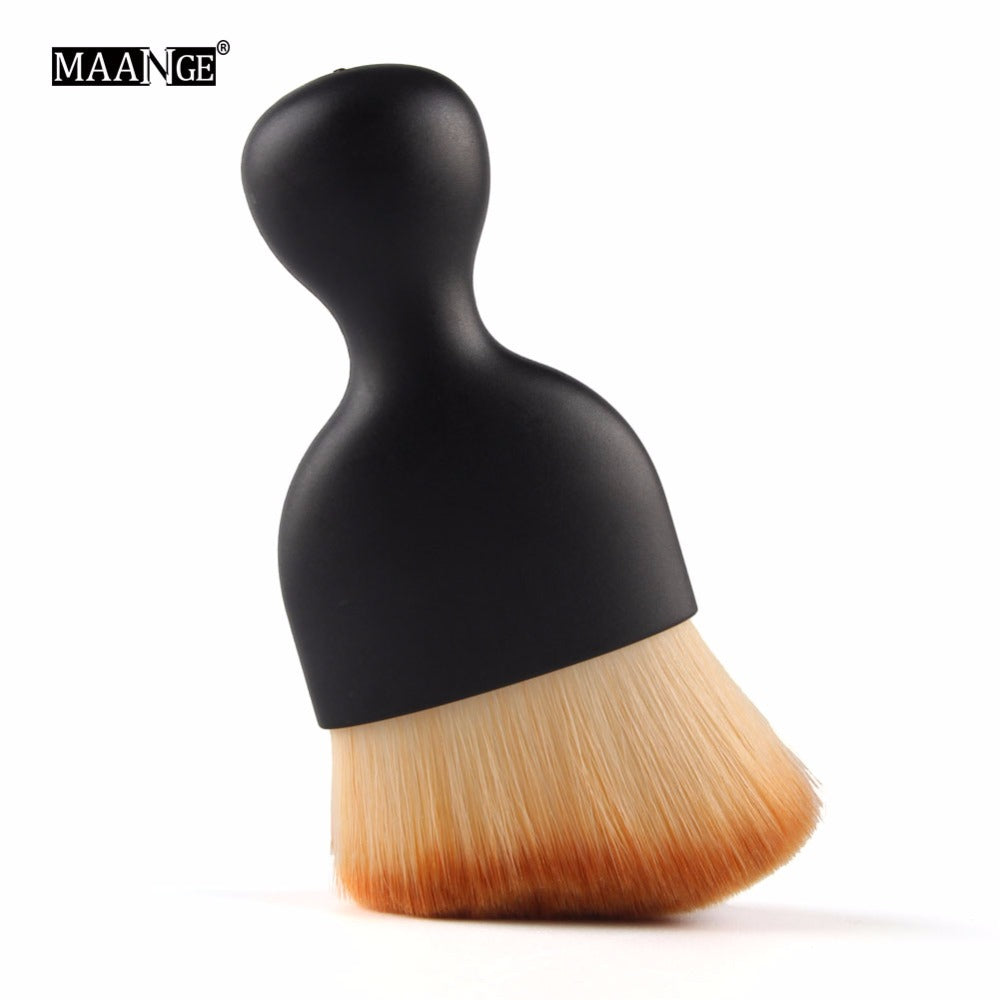 1PCS Contour Foundation Brush S Shape Cream Blush Loose Powder Makeup Brushes Multifunctional