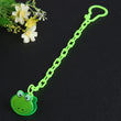 1Pc Cartoon Animals Shape Pacifier Frog Bear Clip Chain Holders Pacifier Nipple Safe PP Strap Newborn Baby Feeding Accessories