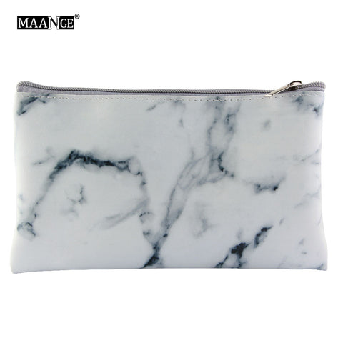 1Pcs Marbling PU Brush Bag Makeup Case Marble Cosmetic Handbag Pouch Beauty Make Up Brush Holder +