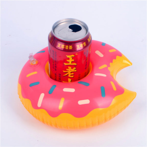 1pc/Beverage Rack, Flamingo, Donut Float Inflatable Pool Float Pool Sand Beach Kids Party Cup Drink Cup