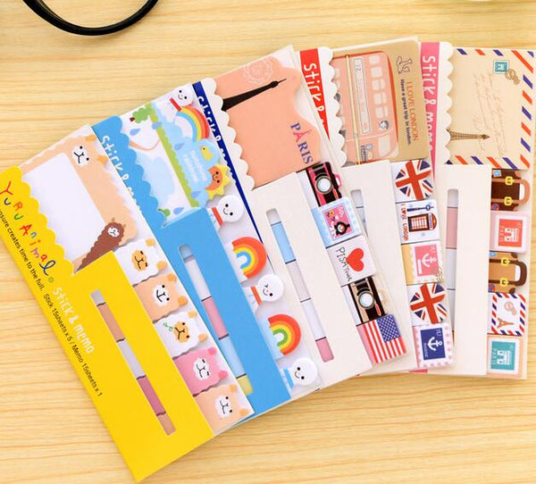 1pcs/lot vintage travel London & Paris & animals sticky notepad memo message post marker removable adhesive paper