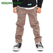2-12Y Boy Solid Casual Pants Vague School Straight Belt Trouser 2018 Spring Autumn Khaki Jeans
