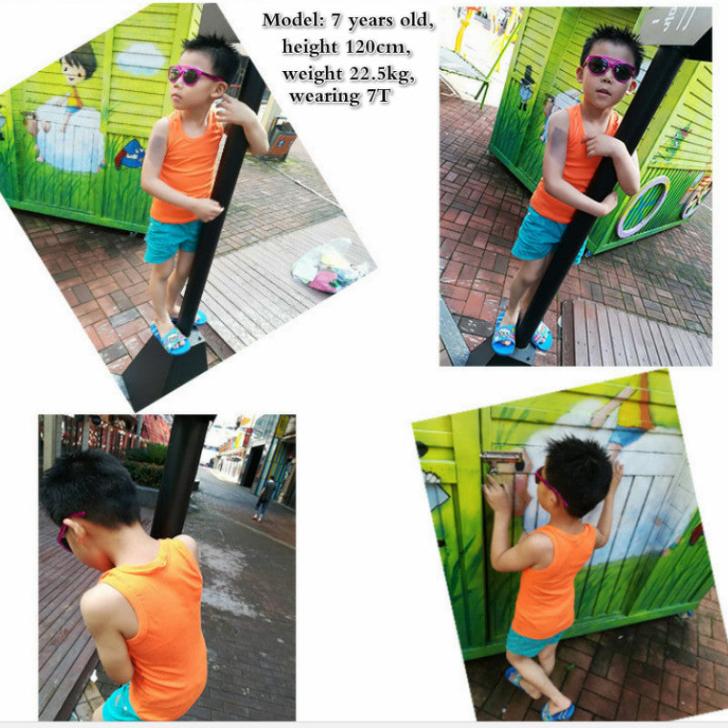 5eb610cad784 2-8T Children T Shirts Summer Style Boys Girls Clothes Vest Cotton Casual  Sleeveless kids Candy Colors Sport Vests Out Wear – Beal