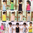 2-8T Children T Shirts Summer Style Boys Girls Clothes Vest Cotton Casual Sleeveless kids Candy