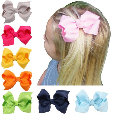 20 Colors 8cm Lovely hair Bow clip Cute Hair Clip Small bow knot hairpin Hair Accessories Hair ornaments  HC015