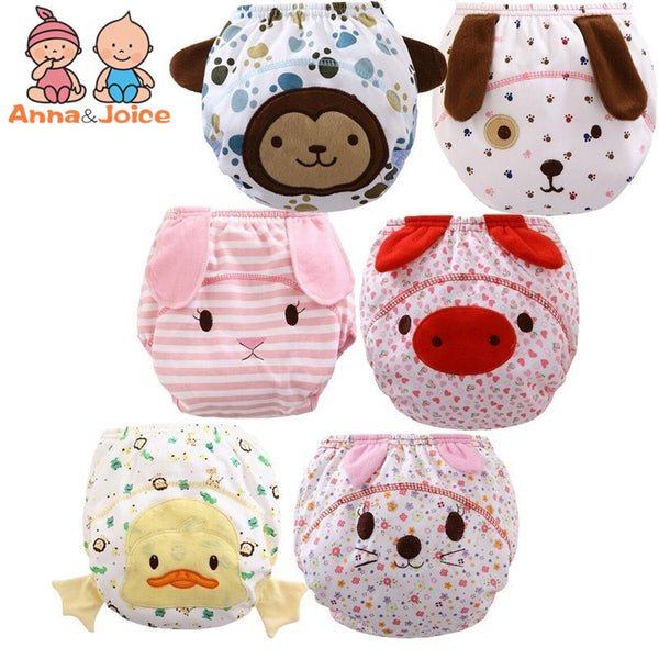 20 Pcs/lot 2018 new designs  Reusable Baby Infant Nappy Cloth Diapers Soft Cotton Baby Nappy