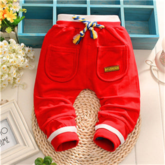 2015 new autumn fashion baby pants high-grade cotton quality baby boys/girls pants 1 piece 0-2 year kids pants Casual pants