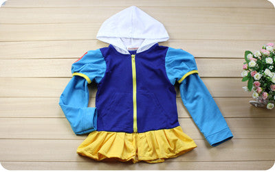 2016 New Autumn coat girls Hoodies jacket with cap clothing for children girls