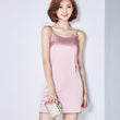 2016 new summer style sleeveless silk beige pink women tank top sexy o neck black red camisole tank Casual girls long tops A958
