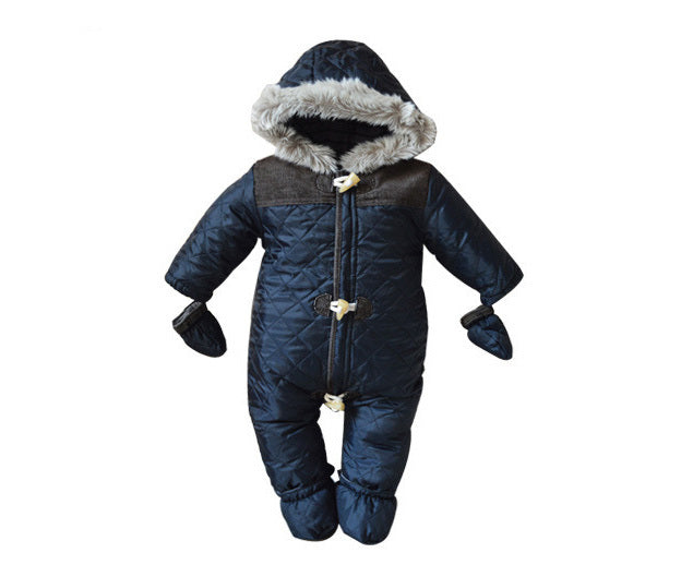 dfe0e16e4 2017 Baby Rompers Winter Baby Boy Snowsuit Romper Toddler Cotton One ...