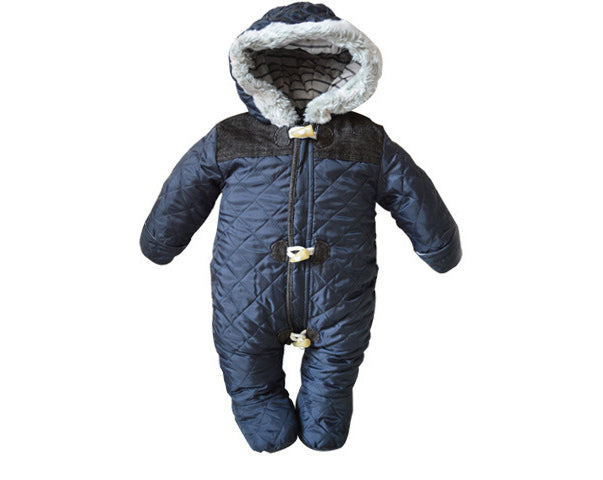 9d5439abacf6 2017 Baby Rompers Winter Baby Boy Snowsuit Romper Toddler Cotton One ...