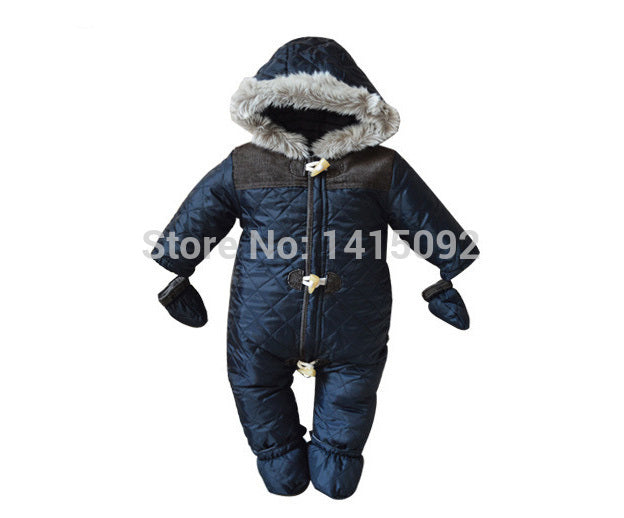 523009584d918 2017 Baby Rompers Winter Baby Boy Snowsuit Romper Toddler Cotton One-piece Suit  Infant Warm Hoody Jumpsuit Coverall For Newborn – Beal