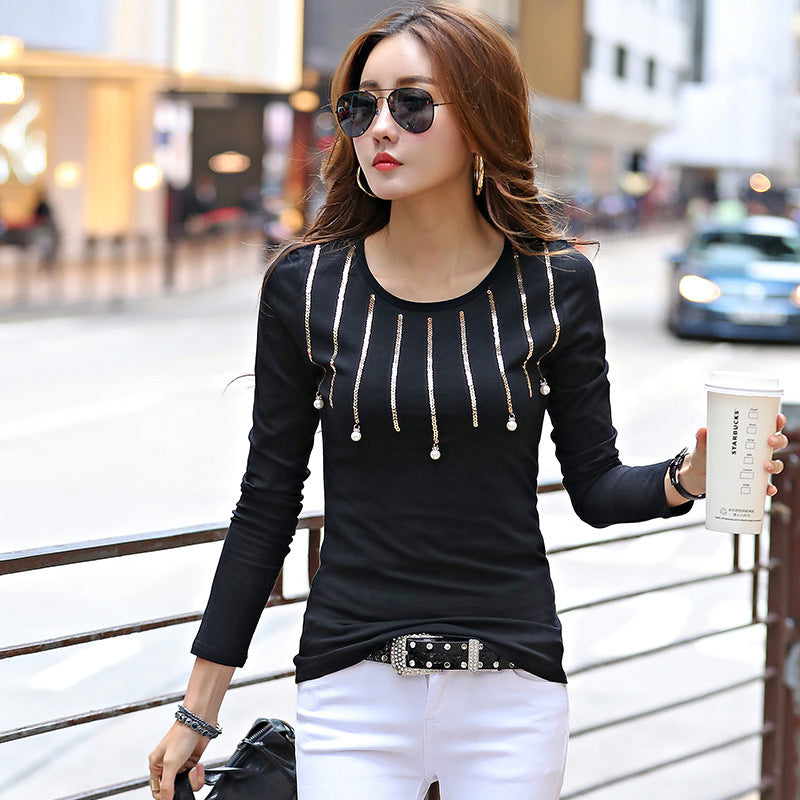 28a831354f34 2017 Black Fashion T Shirt Women Fashion Tops Long Sleeve Spring Autum –  Beal | Daily Deals For Moms
