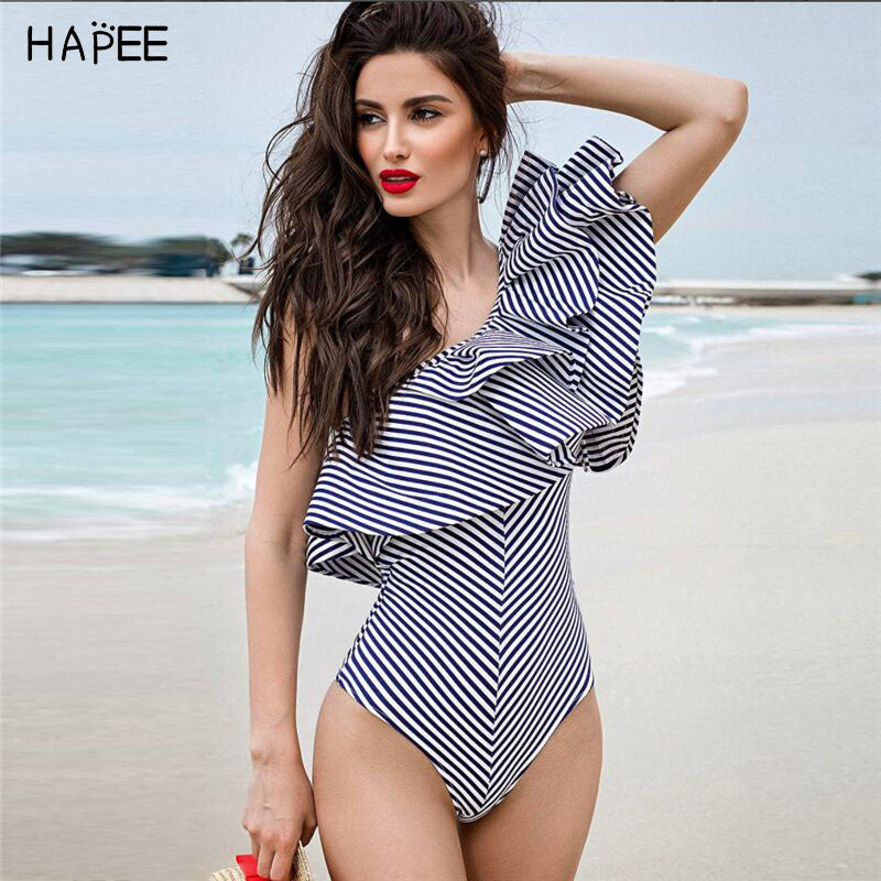 96cad1796d3 2017 Black White Ruffles Jumpsuit Romper One Piece Swimsuit Brazilian –  Beal | Daily Deals For Moms