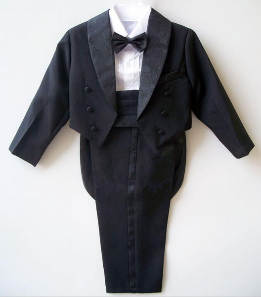 2017 Boys suits for weddings Kids Prom Suits Black/White Wedding Suits for Boys Tuxedo Children