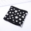 2017 Children Winter Scarf Star Print Knitted Thick Scarves For Baby Boy Girl Ring Fashion Cotton