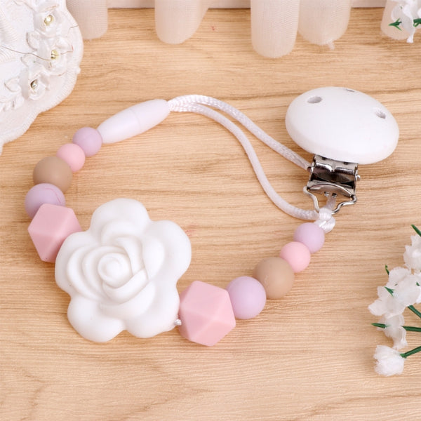 2017 Cute Baby Kids Silicone Chain Clip Holders Boy Girl Pacifier Soother Nipple Leash Strap  Gift NOV3_15