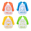 2017 Cute Cartoon animals Baby Bibs Long Sleeve Apron Smock Soft Feeding Waterproof Colorful children Bib Burp Clothes