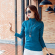 2017 Fashion Autumn & Spring Blusa Women Turtleneck Warm Winter Tee Tops Slim Casual Long Sleeve T Shirt For Womens Tops A733