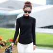 2017 Fashion Autumn & Winter Blusa Women Turtleneck Winter Tops Slim Casual Long Sleeve T Shirt For Women Plus Size M-4XL A518