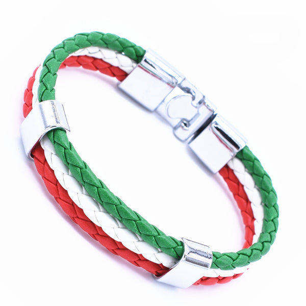 2017 Fashion Unisex Jewelry Red String Bracelet 3 Layer Handmade Braided Leather Rope Men Women Hand Strap Charm Bracelet