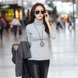 2017 Fashion Womens Turtleneck T Shirt Autumn Winter Tops Casual Slim Long Sleeve T-Shirts For Women Clothing Tees B176