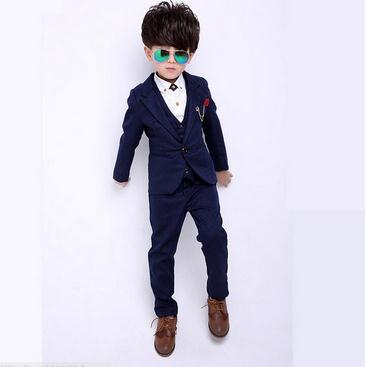 2017 Gentleman Style Boy's Formal Suits Spring Children Clothing Sets for Wedding Kids Prom