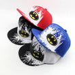 2017 Korean Cartoon Inkjet Batman Children Hip Hop Baseball Cap Summer Sun Hat Spring Boys Girls
