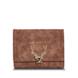 2017 Latest Christmas Deer Women Leather Wallet VintageTri-Folds Luxury Cash  Purse Girl Small