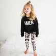 2017 Mother Daughter Clothes Bohemian Warm Leggings Print Elastic Soft Pants Baby Girls Women Christmas Family Matching Outfits