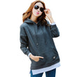 2017 New Winter Thick Velvet Hoodies Tracksuit For Women Warm Pullovers Hooded Hoodie Women Loose Pocket Sweatshirt Feminino Top