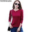 2017 Spring Autumn Sp[ring Fashion Round Neck Tops Long Sleeve Cotton T Shirts Slim Fashion t-shirt women 2017 Basic Tees Shirts