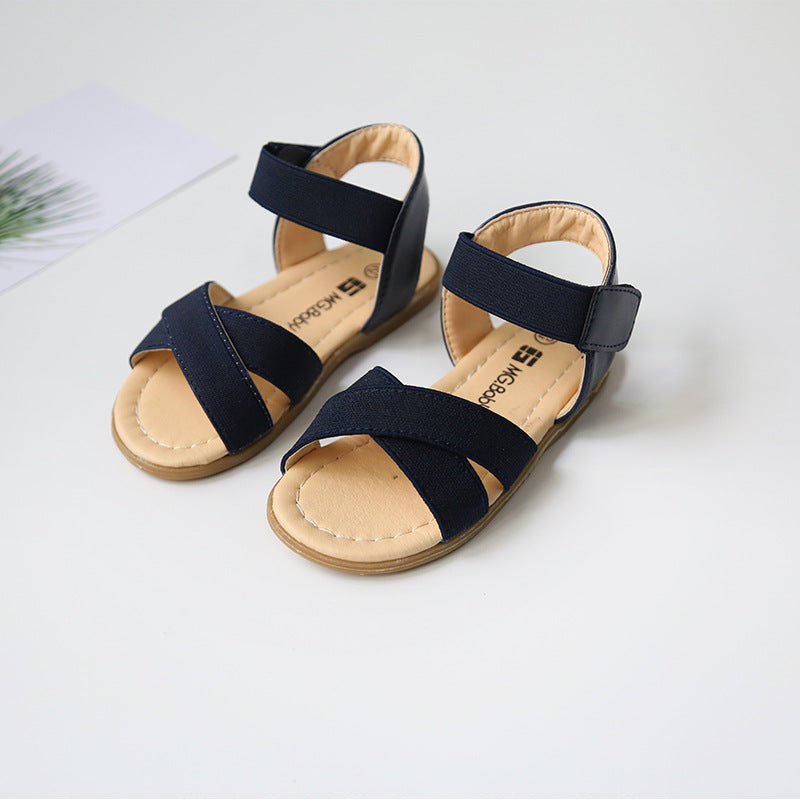 ae9f0d256 2017 Summer new girl sandals korean style children summer shoes elastic  band toddler baby girls sandals first walkers size21-30 – Beal