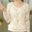 2017 White Blusas Women Fashion Long Sleeve Lace Blouse Spring Autumn Womens Clothes Crochet Tops Chiffon Shirt A722