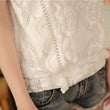 2017 White Lace Top Sleeveless Shirt Women Summer Vintage Blusa Feminino Crochet Casual Loose Women For Blouse Tops Blouses A351