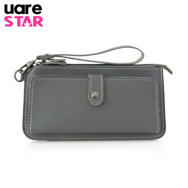 2017 Women's Purse High Quality PU Leather Women's Wallet  Zipper Bag Vintage Female Wallet Purse Fashion Card Holder Phone Bag