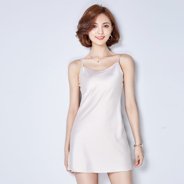 2017 Womens Sexy O Neck Silk Satin Camis Sleepwear Style Long Tank Top Summer Sleeveless Evening Club Blouse Shirt Tops A960