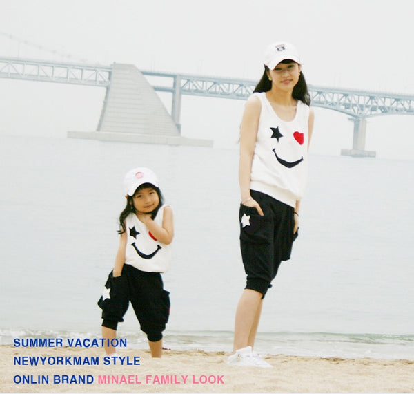 2017 family look kids sport suit girl and mother clothes mom and daughter vestido mommy and me set