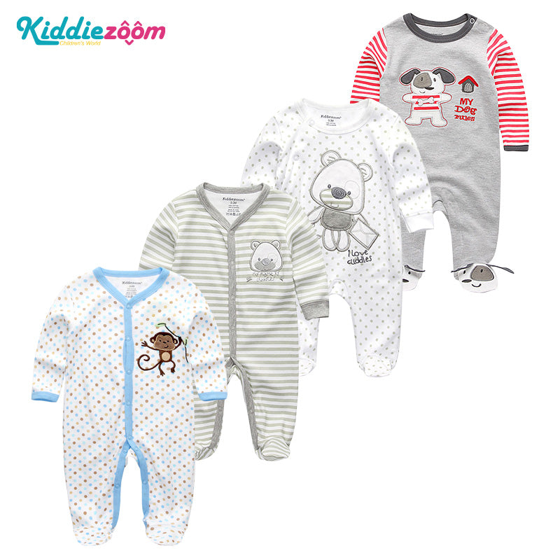 ef1768407c7 2018 5PCS lot Newborn Baby Girl Rompers Full Long Sleeve Cotton ...