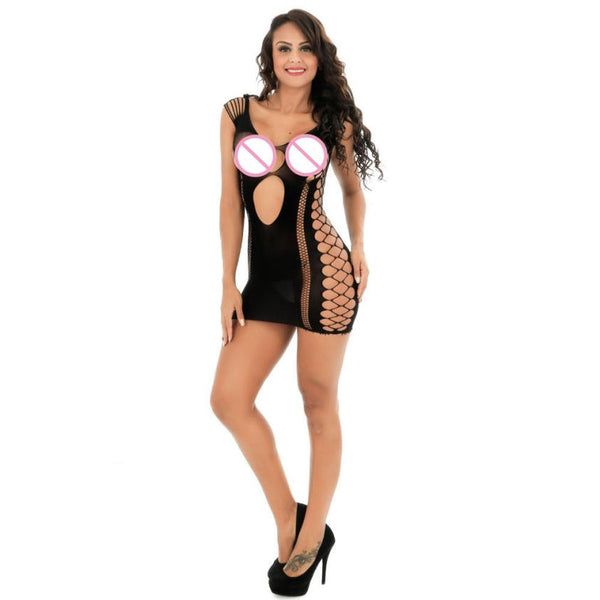 2018 Best Sale Womens Transparent Mesh Bodystockings Bodycon Sexy Underwear Dress ropa interior femenina free Shipping