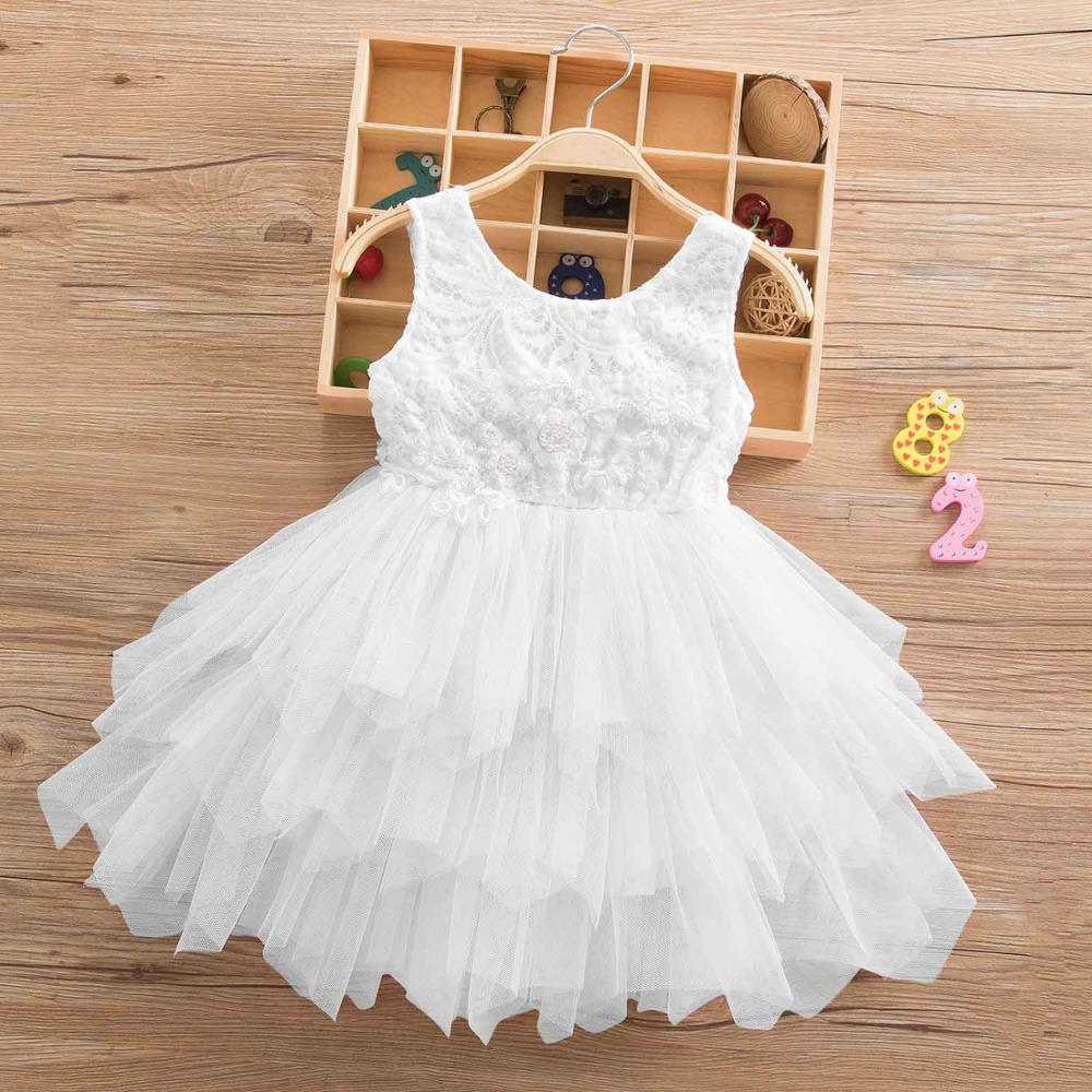 0a4cfba76f0c9 2018 Brand Girls Summer Lace Princess Tutu Dress Lace Dress Girl Infant  Clothing Kids Children